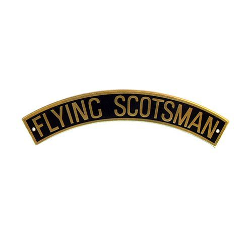 Flying Scotsman  Locomotive Etched Nameplate